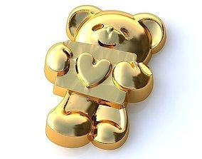 prototyping 3D print model Gold Bear