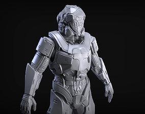 Sci-Fi Armor 3 Sculpt 3D model