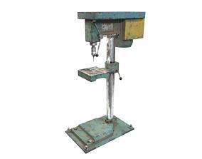 3D asset Old drill press industrial machine