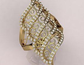 Lace Ring design 3D print model