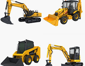 Collection Construction Vehicles 02 3D