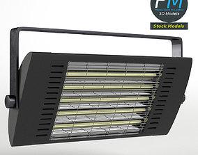 3D PBR Wall mounted halogen heater