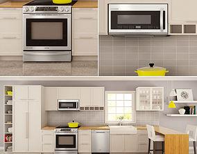 3D model Family Kitchen Set 03