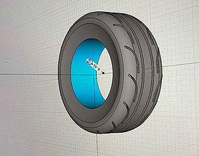 3D print model MT 275 65 17inch Drag Radials tires ET