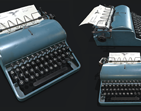 3D asset Olympia Typewritter
