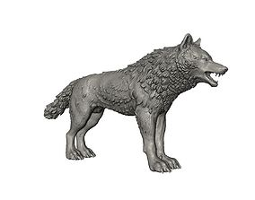 3D print model High poly wolf