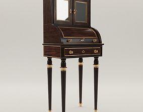 3D Neoclassical cylinder bureau - France - 19th century