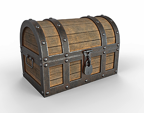 Old Treasure Chest 3D