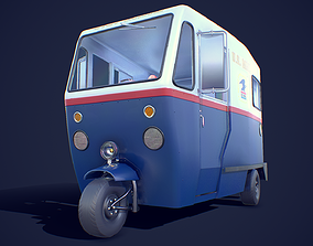3D model game-ready Cushman Mailster truckster 1960