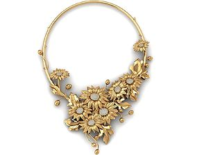 3D print model 198 Sunflower Necklace diamond