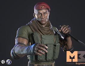 Soldier Marine 3D model