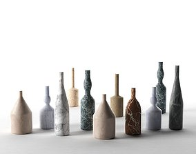 Omaggio a Morandi Decorative Bottles 3D model