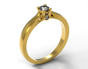 Elegant Engagement Ring 002 3D print model