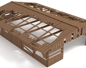 3D model Destroyed Warehouse