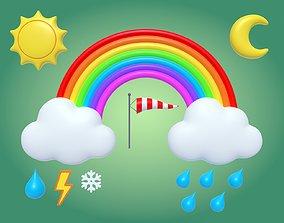3D asset Cartoon Weather - Pack