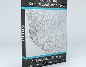 Sochi Road Network and Streets 3D model