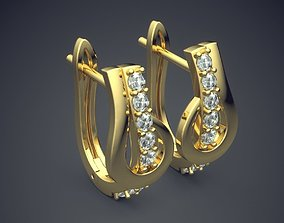 Earrings With Diamonds CAD-4787 3D printable model