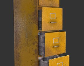 3D model File Cabinet Yellow