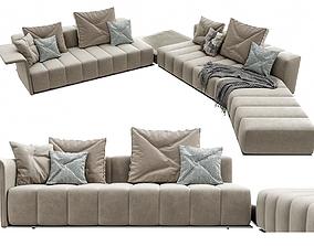 3D model Minotti Freeman Lounge Arrangement 04