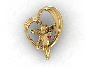 heart and an angel 3D printable model
