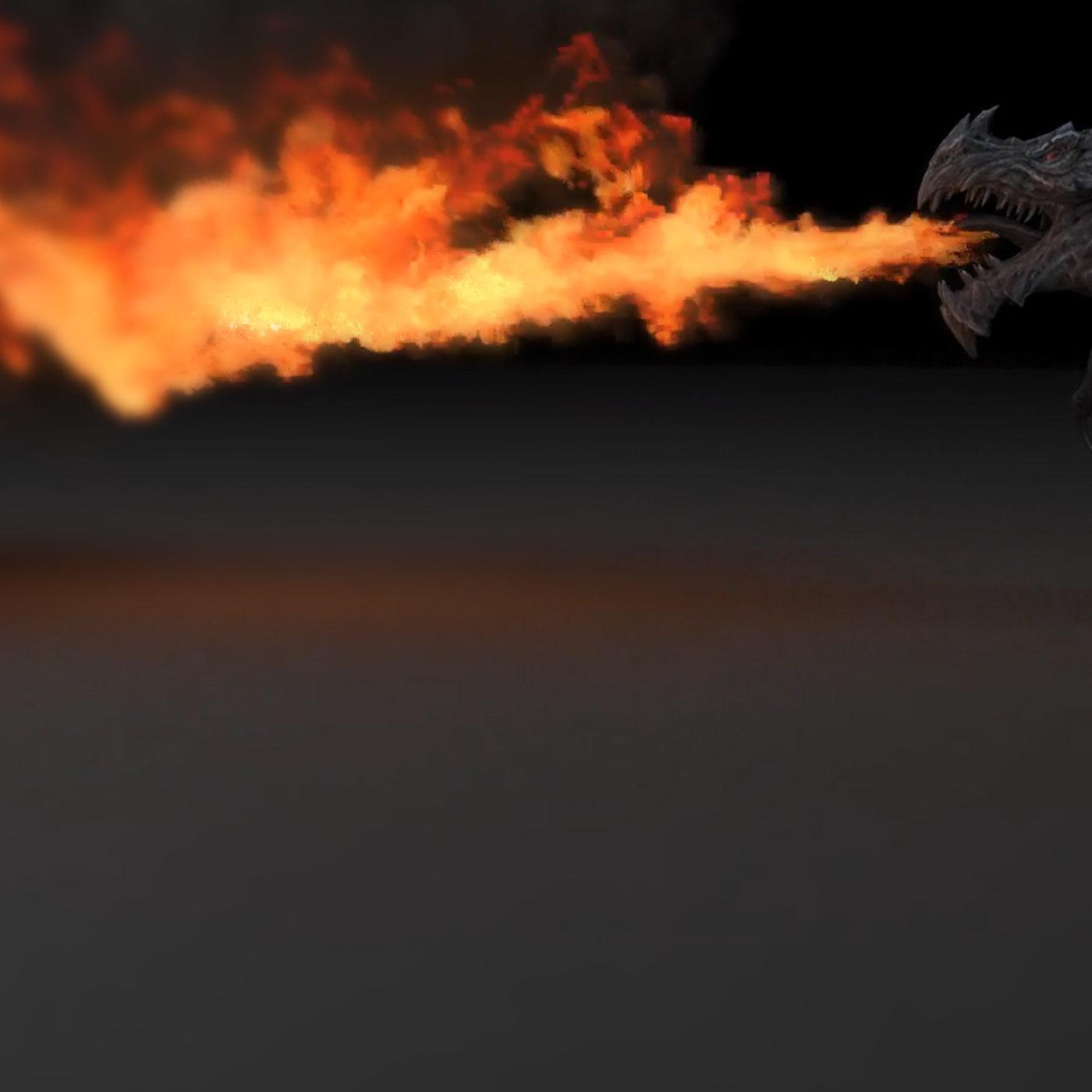 Fire Dragon By 3DSmax, Phonix FD & VrayNext