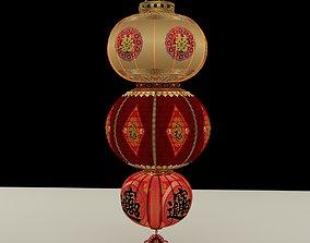 lighting Chinese Red Lantern 3D