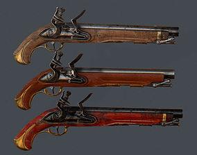 Old Musket Pistol 3D asset
