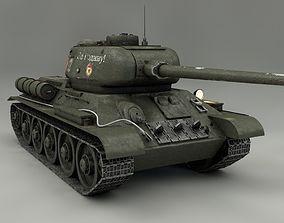 3D Tank T 34 85