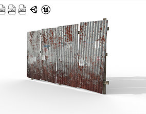 Galvanized roof wall 3D model