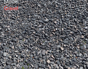 3D model Ultra realistic Gravel Scan rubble