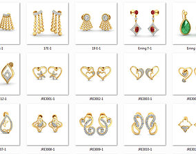 58 Women Earrings 3dm render details bulk purchase