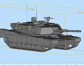 3D print model Abrams Tank Highly Detailed