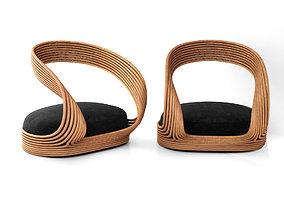 3D Joe Colombo rattan chair