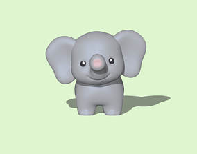 3D printable model A Cute Elephant to decorate and play