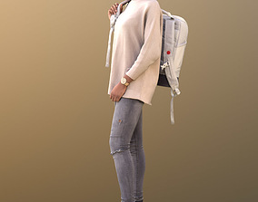 3D asset Iona 10614 - Stand casual girl with bag