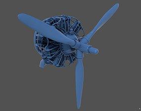 PW R1830 Radial Engine 3D print model