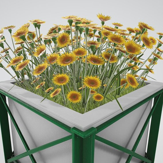 Flower Pot Sunflowers Version 2