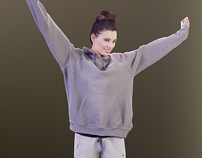 Myriam 10018 - Stretching Sport Girl 3D model