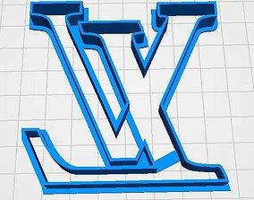 3D print model cookie cutter louis vuitton
