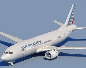 3D model 737 400 AirFrance With Interior