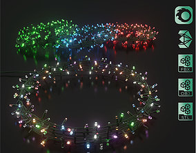 3D LED garland Christmas tree lamps
