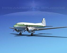 3D Douglas DC-3 Ozark