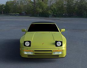 Porsche 944 Convertible HDRI 3D model