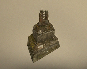 3D asset Scanned photorealistic remains of broken cross