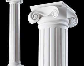3D model 01 Ionic column order