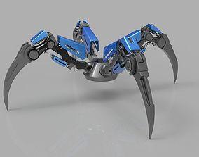 3D rigged Robot Leg