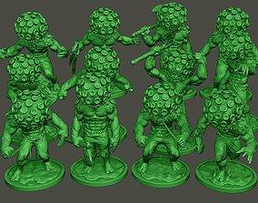 3D model Humanoid virus Pack1