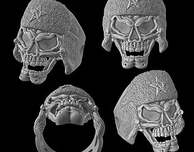 3D printable model Russian skull ring