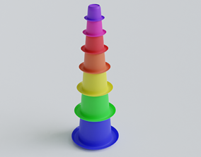 3D print model Stack-Nested Cup Tower for 1