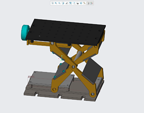 Lifting table mechanical 3D print model